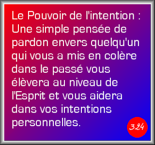 Le pouvoir de l' intention ...