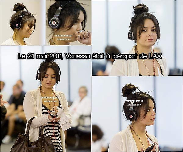 Le 21/05, Vanessa était à l'aéroport de LAX pour le Tennessee ! J'aime bien sa tenue, je trouve que la coiffure ne lui va pas très bien ! C'est tout de même un TOP.  05 chiffres : 10 chiffres - 05 vrais : 10 vrais .Précise.