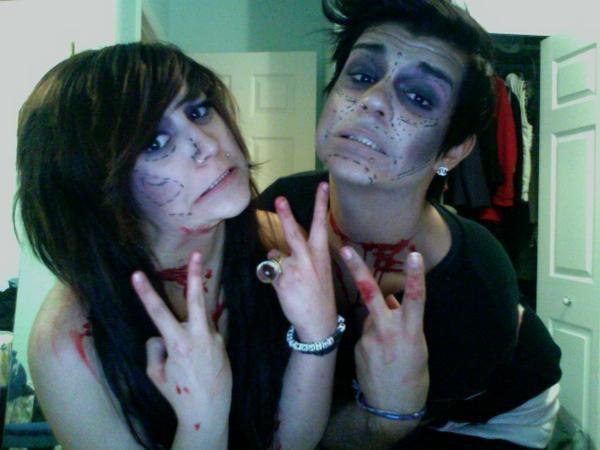 Halloween 2010 avec ma soeur et ses amis .