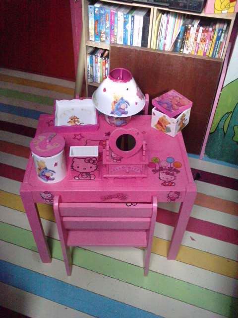 Table et chaise hello kitty ventedecoenfant - Table et chaise hello kitty ...