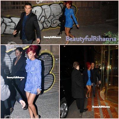 << Rihanna et Katy Perry (absente sur les photos..) vont manger dans un restaurant dans la capitale espagnole, Madrid.  ~07novembre2010