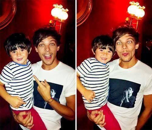 *Louis et un petit garçon