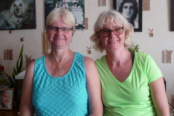 mes deux soeur martine et marie th juillet 2014