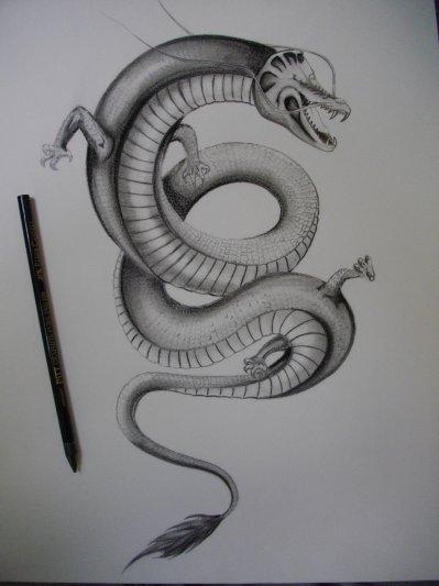 Dragon style japonais crayon hb hb2 fusain pastel tattoo - Dragon japonais dessin ...