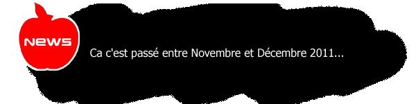 ARCHIVES ; Novembre & Décembre 2011