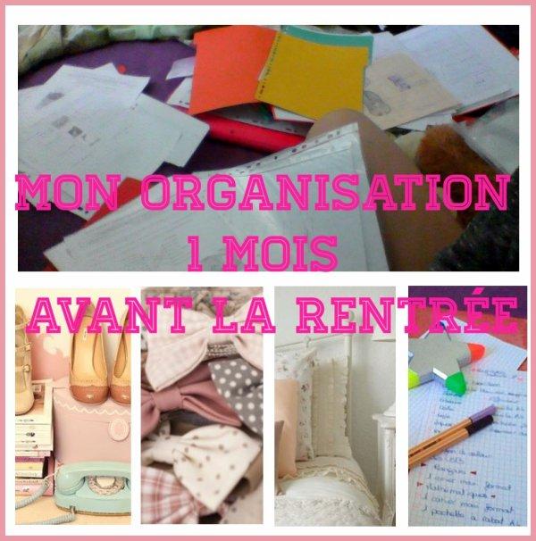 ⌨ Back to school: Mon organisation 1 mois avant la rentrée ⌨