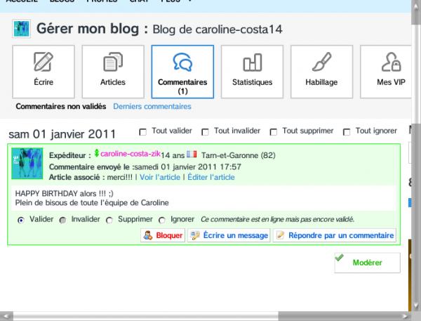 Trop Content Caroline Et Toute L'équipe Costa Ma Visite Et Ma Mit Un Commentaires Le Jours De Mon Anniversaire .01/01/1997...