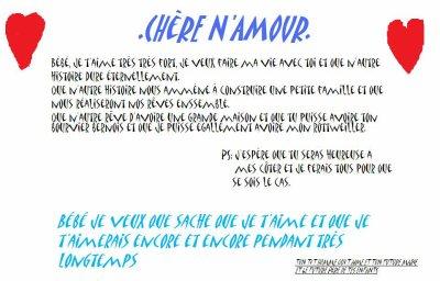 Une Petite Lettre Pour Lamour De Ma Vie Visite Officiel