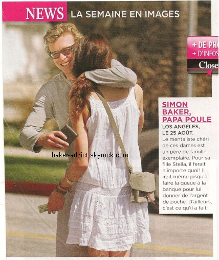 "Simon Baker ""le papa poule"" dans Closer."