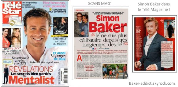 Simon Baker dans le Télé Magazine ™