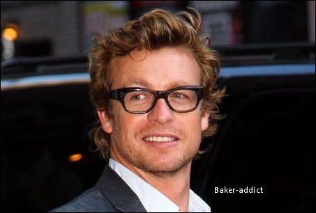 "Simon Baker in the ""late show""."