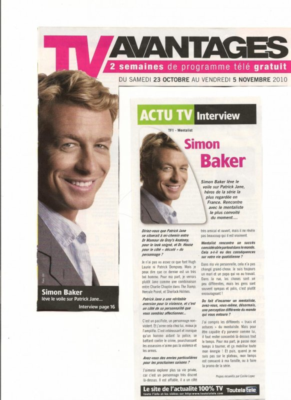 blog de baker addict ta source sur le beau simon baker. Black Bedroom Furniture Sets. Home Design Ideas