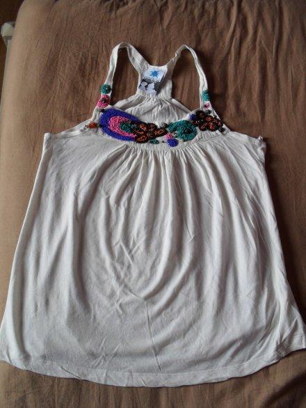Haut Zara à perles, T.M (4)