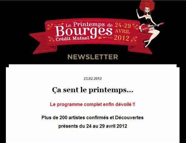 La programmation complète du Printemps de Bourges 2012
