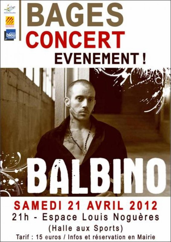 info: Concert Balbino le 21 avril 2012