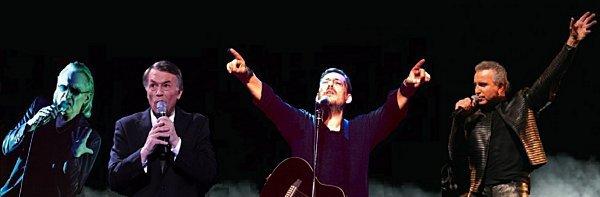 Bernard Lavilliers en concert au stade de Kallimarmaro à Athènes le 9 juillet 2012