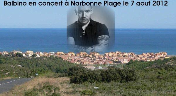 Balbino en concert à Narbonne Plage le 7 aout 2012