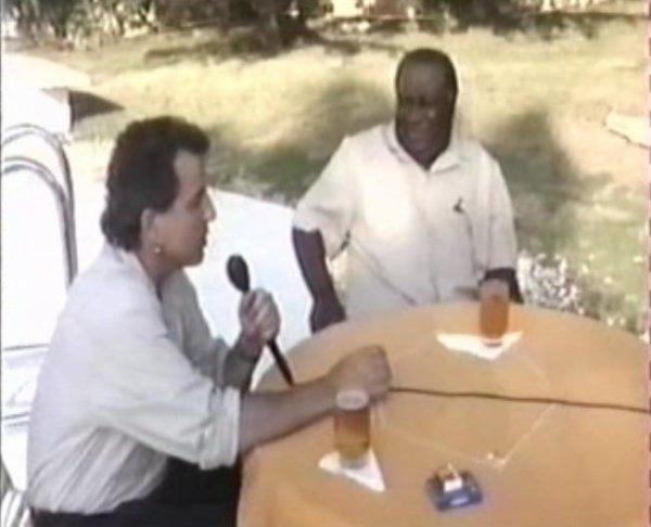 Lavilliers reporteur, photo 1988, avec le Président de Haïti