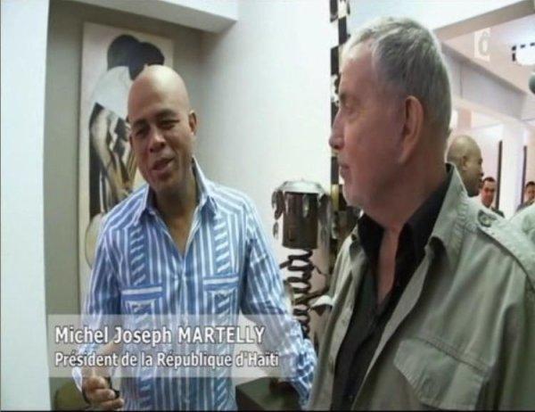 Bernard Lavilliers interviewant 3 Présidents, Messieurs: Michel Joseph Martelly, Leslie Manigat, Daniel Ortega.