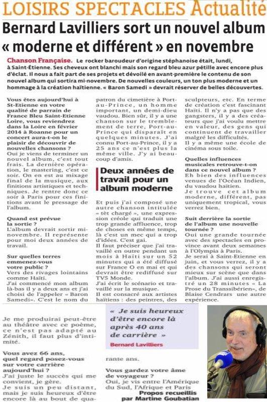 Bernard Lavilliers nouvel album novembre 2013 et infos