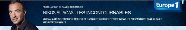 """Lavilliers Bernard - Nicos Aliagas sur Europe1 ce we """"Les incontournables"""""""