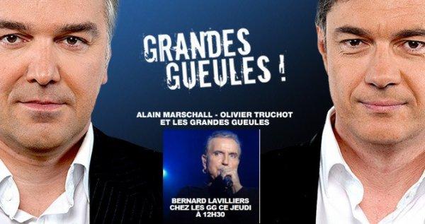 Bernard Lavilliers: Les  grandes gueules sur RMC à 12h30, jeudi 5 décembre 2013