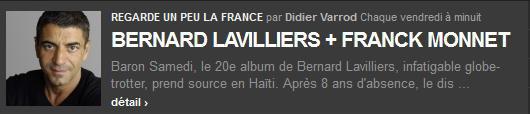 Lavilliers - France 2 et France inter le 15 mars 2014