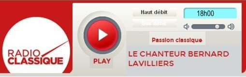 """Lavilliers est l'invité d'Olivier Bellamy dans """"Passion classique"""" à 18h00 le 18 mars 2014"""