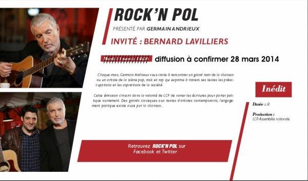 Lavilliers - Rock'n Pol sur LCP mars 2014
