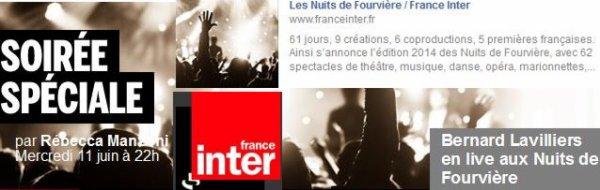 Lavilliers - France inter - Les nuits de Fourvière - 22h00 - France Inter