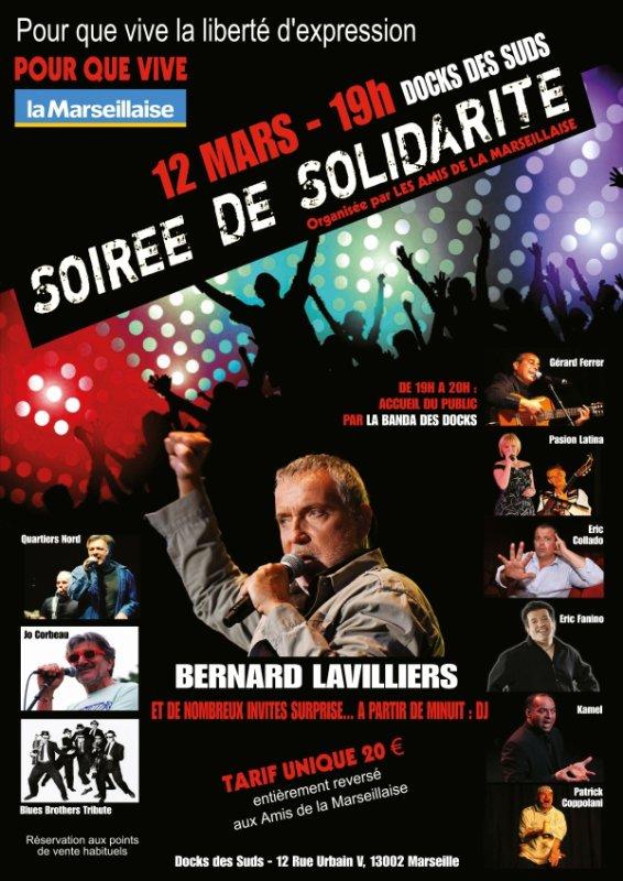 "Bernard Lavilliers 12 mars 2015 ""doc du sud"" Marseille"