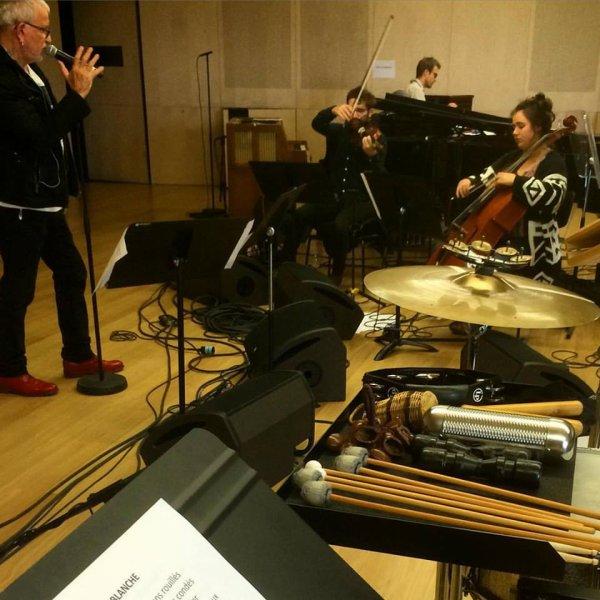 Bernard Lavilliers, répétition avant le concert à la Philarmonie de Paris le 27 Septembre 2015