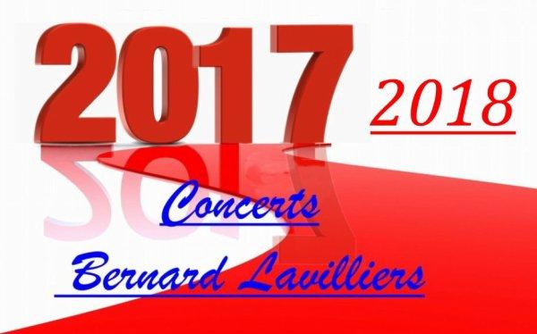 Dates des concert 2017 et 2018 de Bernard Lavilliers