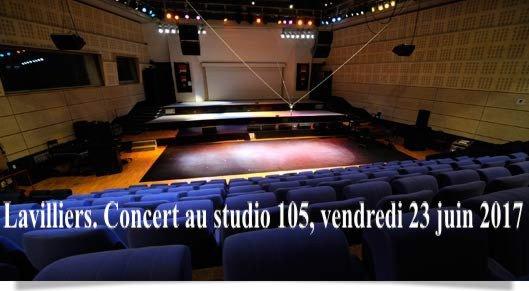 Lavilliers. Concert au studio 105, vendredi 23 juin 2017 à 23h00