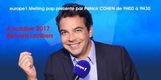 Lavilliers. Le 4 octobre 2017. Europe1. Melting pop présenté par Patrick COHEN de 9H00 à 9H30