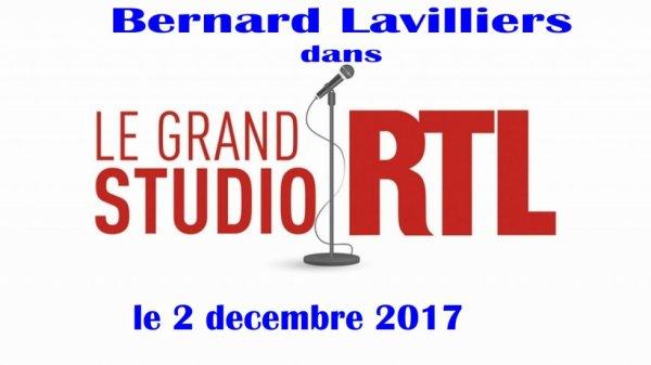 lavilliers sur RTL. Le grand studio.  2 décembre 2017
