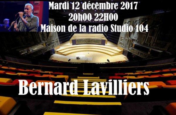 Bernard Lavilliers sur France Inter le 12 décembre 2017