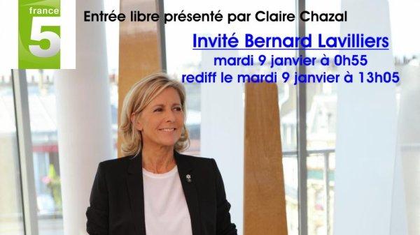 Lavilliers. Entrée libre présenté par Claire Chazal, le 9 Janvier 2018 sur France 5