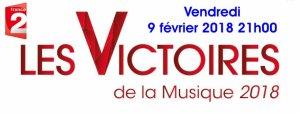 """Lavilliers. Nominé dans la catégorie """"artiste masculin"""" aux Victoires de la musique 2018. Le 9 février 2018. France 2"""