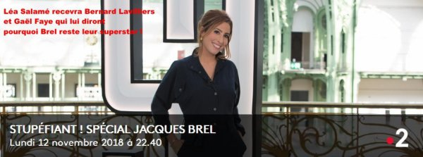 Bernard Lavilliers sur France 2 le 12 novembre 2018 à 22h40