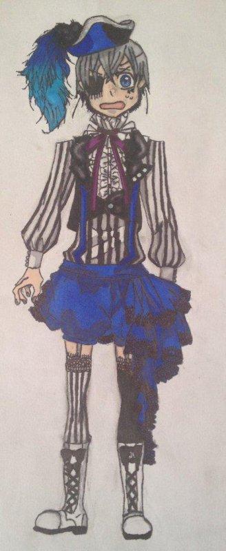 Mon dessin Ciel Phantomhive (Smile) aux Promarkers