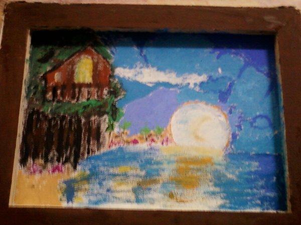 peinture mon 1er paysage