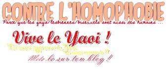Tous Contres Les homophobe VIVE LE YAOI <3