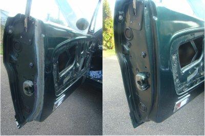Réfection du joint de portière côté conducteur