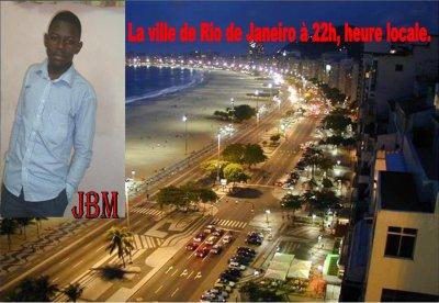 Photo prise de la ville de Rio Janeiro au Bresil