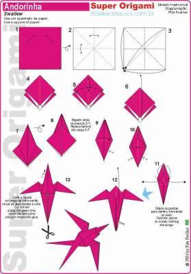 un deuxieme mod le d 39 oiseau origami mes oeuvres et quelques pi ce de maitre. Black Bedroom Furniture Sets. Home Design Ideas