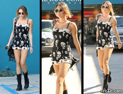 16/04 : Miley quittant son cours de pilates