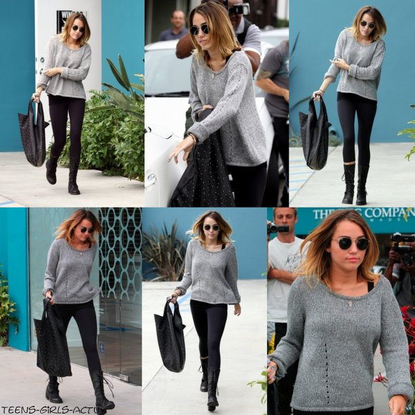 24/04 : Notre jolie Miley quittant son cours habituel de Pilates dans West Hollywood
