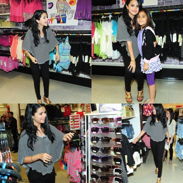 24/04 : Selena a organisé une rencontre surprise pour ses fans dans le magasin  Kmart à Los Angeles