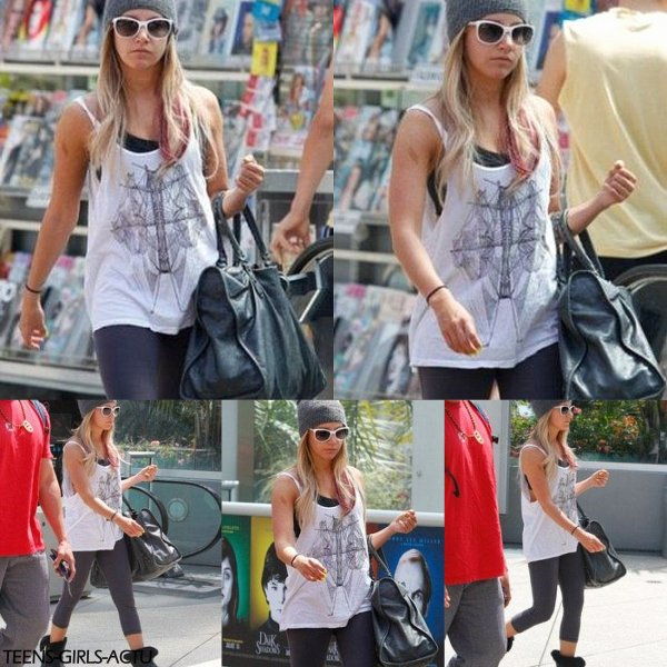 27/04 : Ashley a été vue quittant son cours de gym à la salle Equinox dans West Holywood